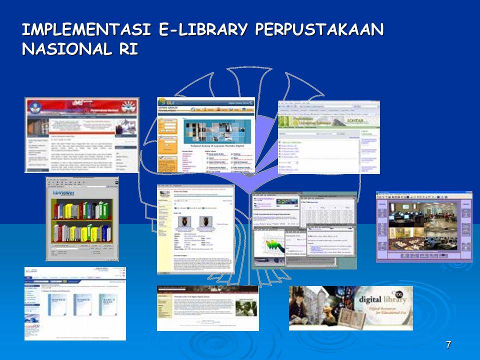 IMPLEMENTASI E-LIBRARY PERPUSTAKAAN NASIONAL RI