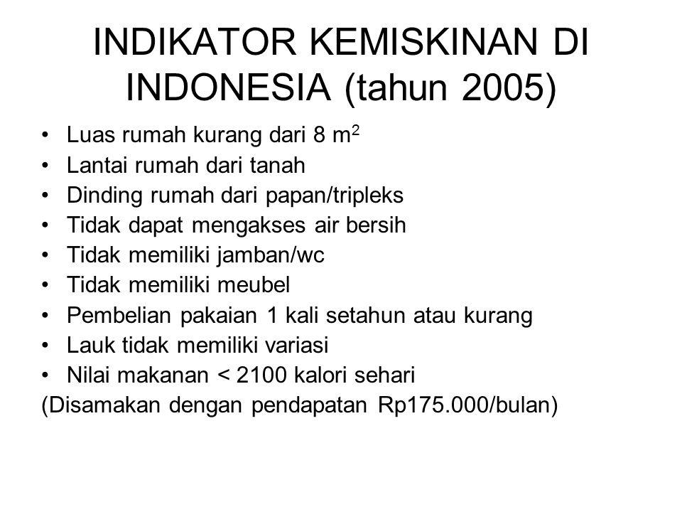 INDIKATOR KEMISKINAN DI INDONESIA (tahun 2005)