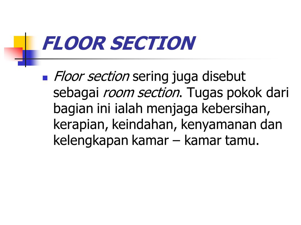 FLOOR SECTION