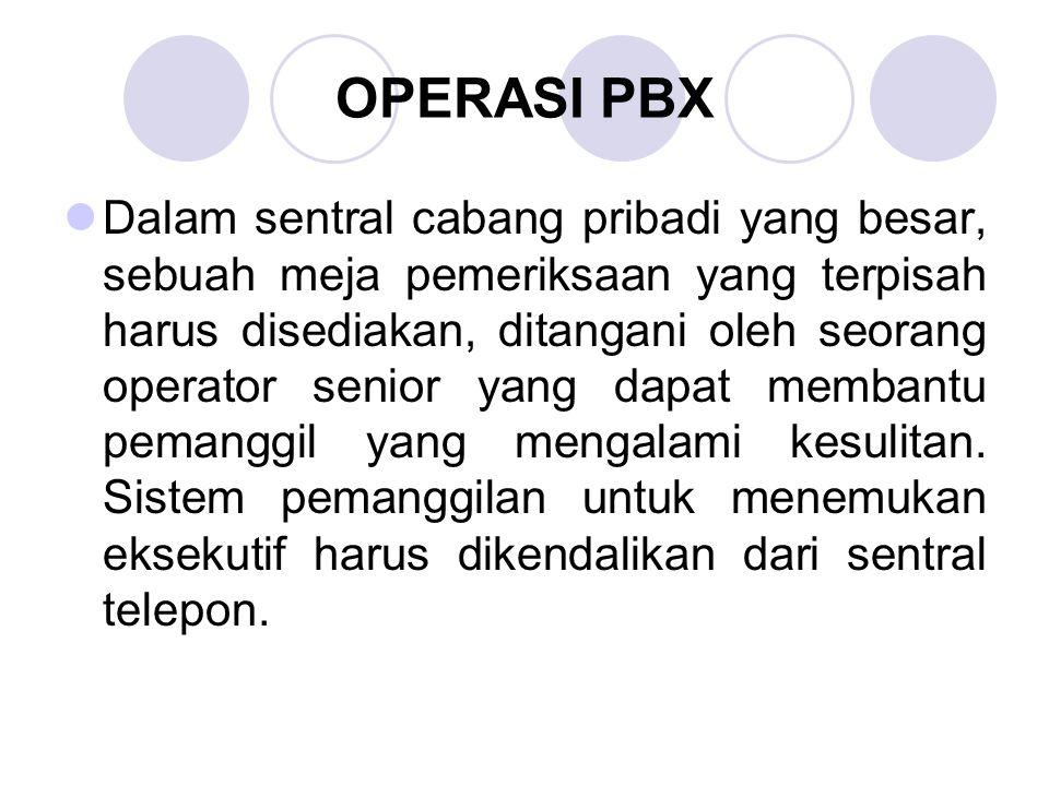 OPERASI PBX