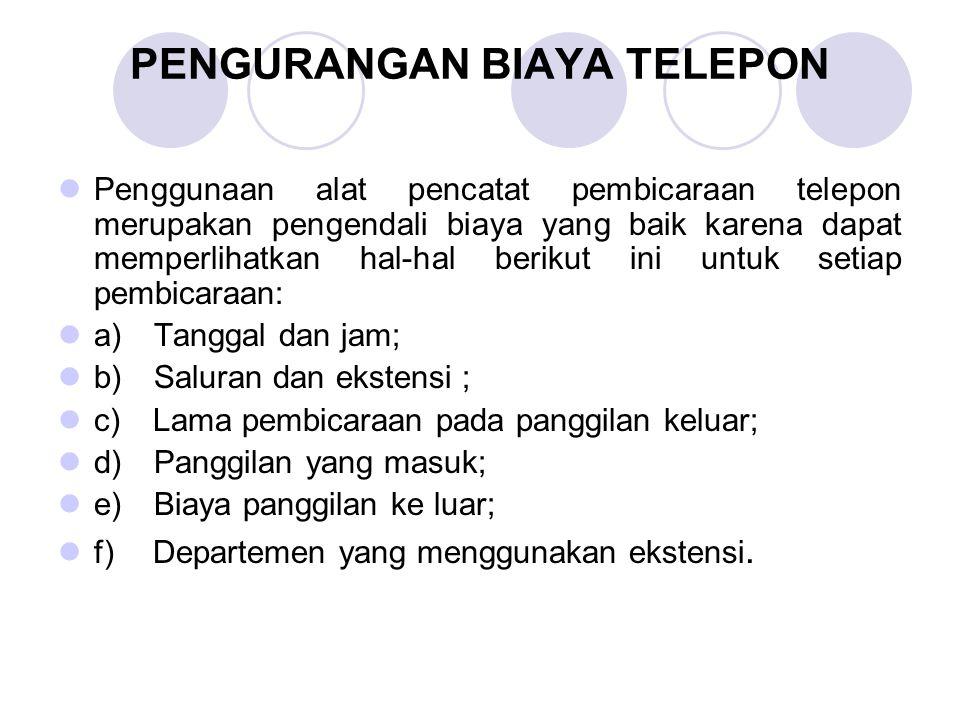 PENGURANGAN BIAYA TELEPON