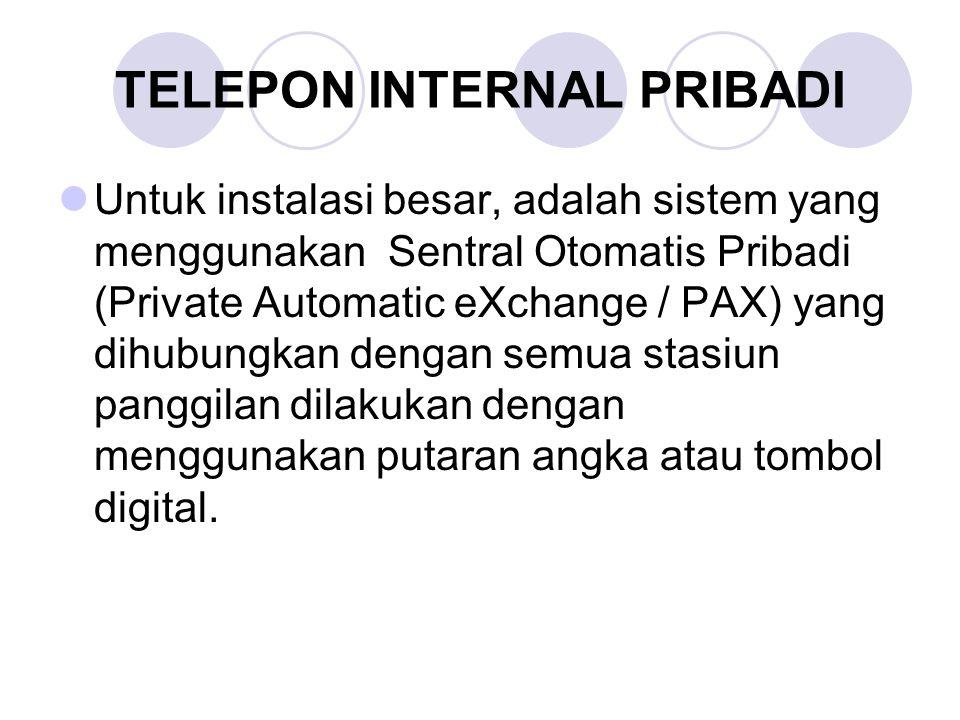 TELEPON INTERNAL PRIBADI