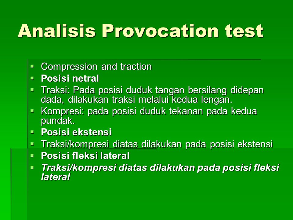 Analisis Provocation test