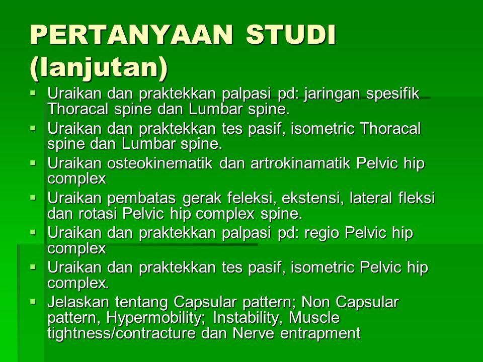 PERTANYAAN STUDI (lanjutan)