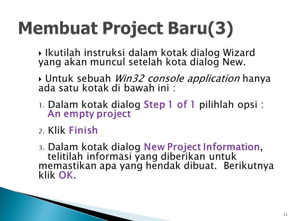 Membuat Project Baru(3)