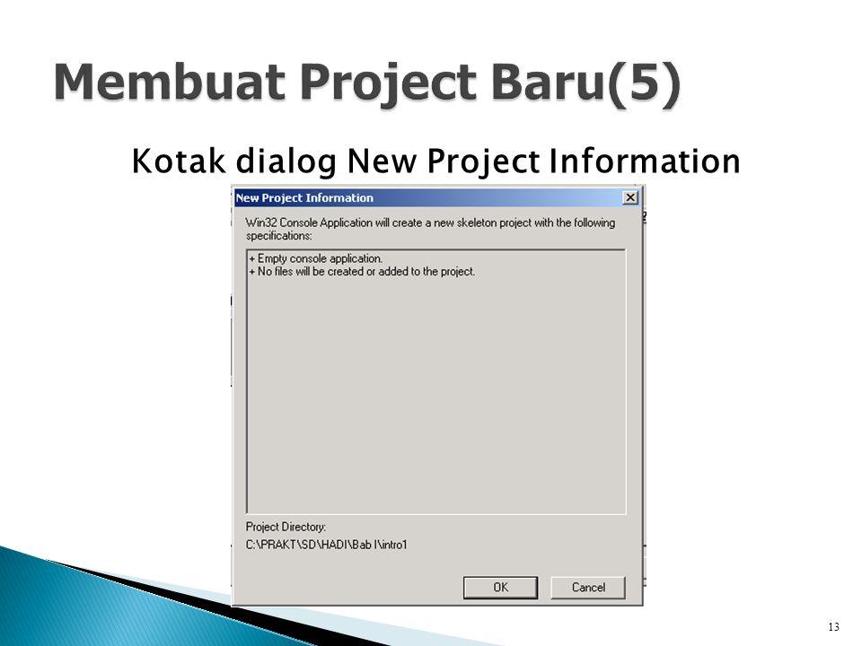 Membuat Project Baru(5)