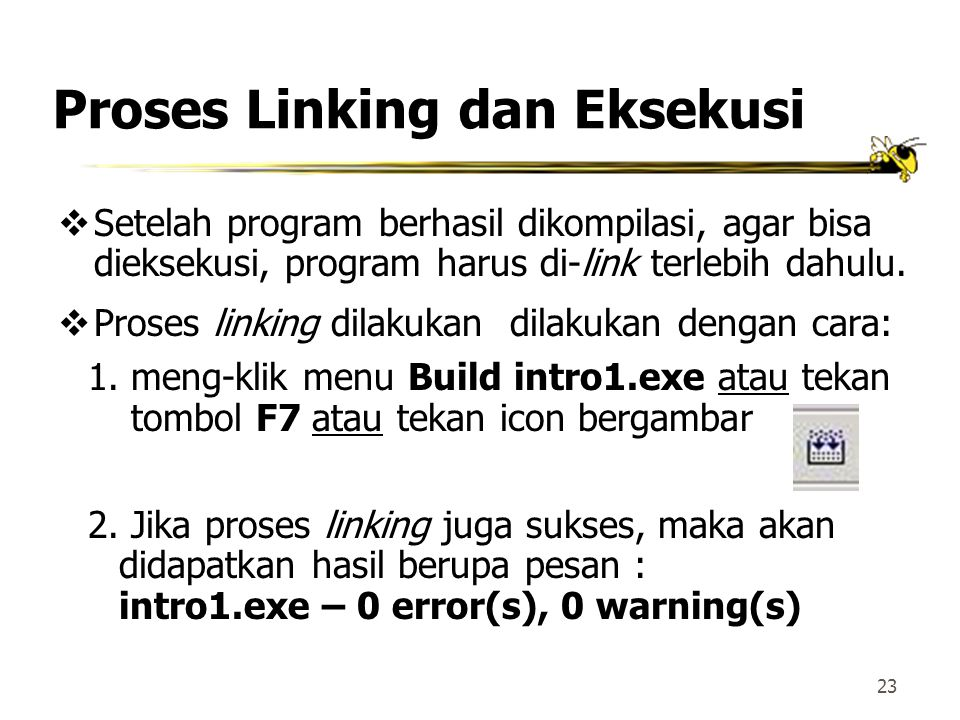 Proses Linking dan Eksekusi