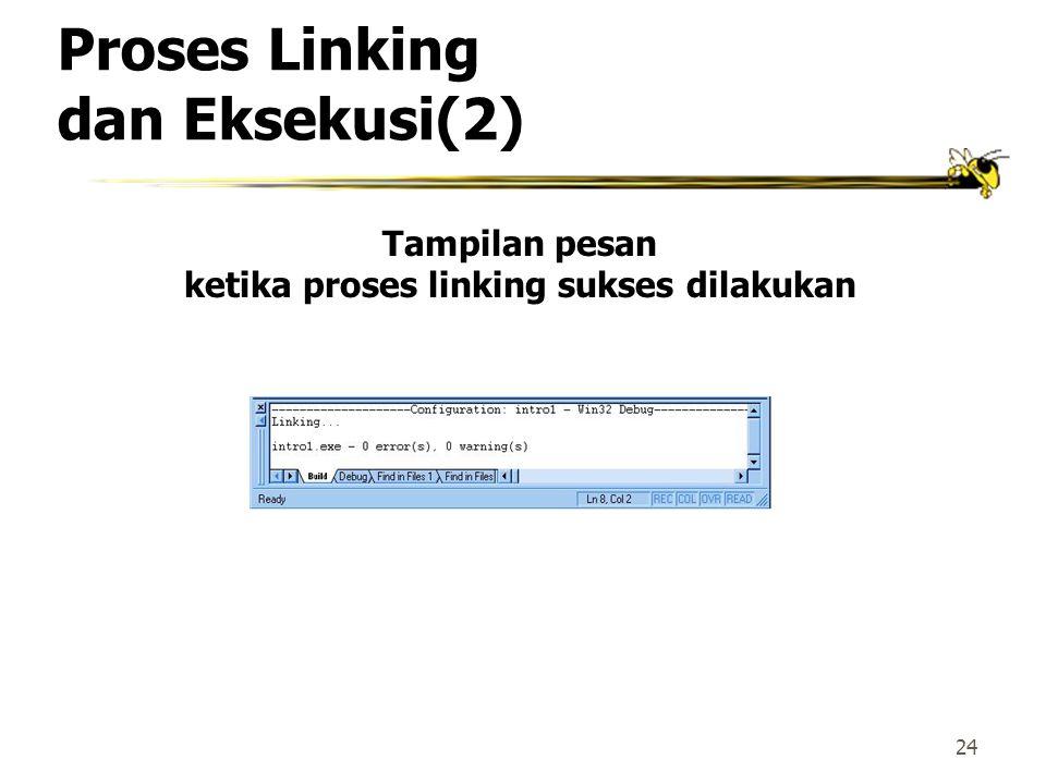 Proses Linking dan Eksekusi(2)