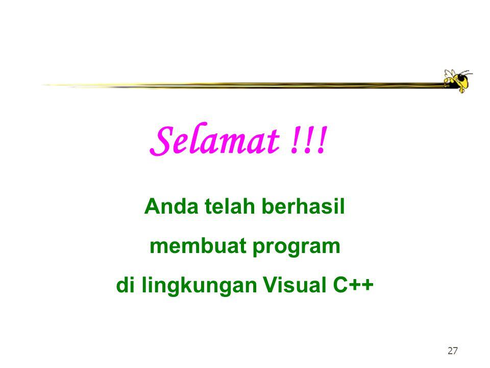 di lingkungan Visual C++