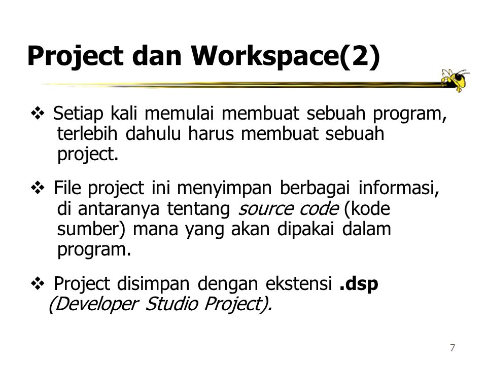 Project dan Workspace(2)