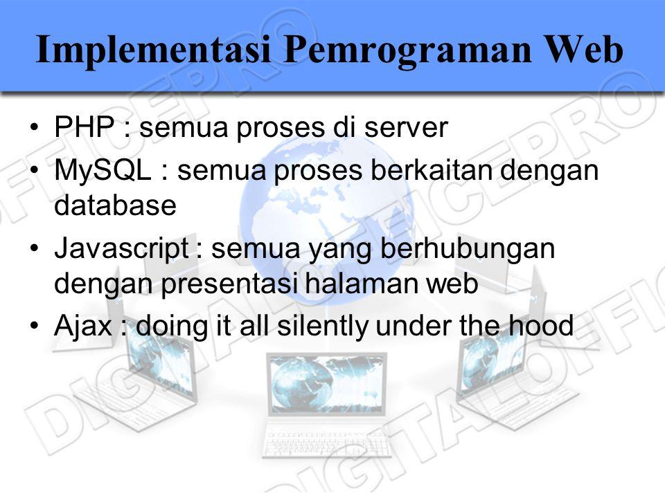 Implementasi Pemrograman Web