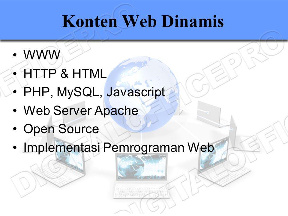 Konten Web Dinamis WWW HTTP & HTML PHP, MySQL, Javascript