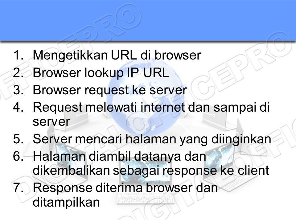 Mengetikkan URL di browser