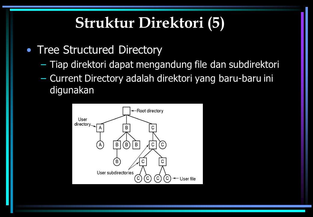 Struktur Direktori (5) Tree Structured Directory