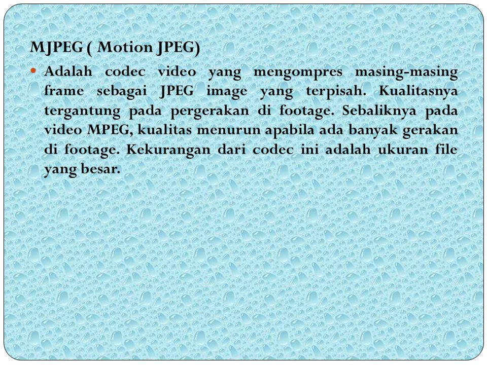 MJPEG ( Motion JPEG)