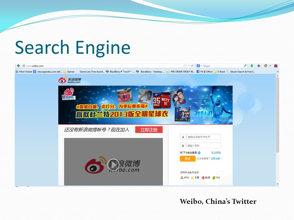 Search Engine Weibo, China's Twitter