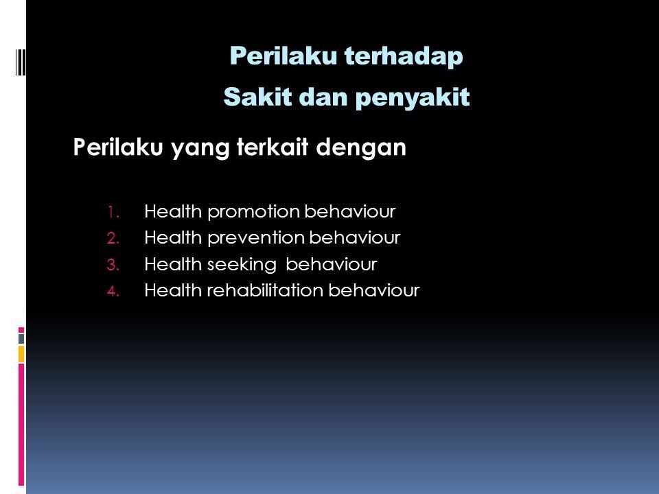 Perilaku terhadap Sakit dan penyakit