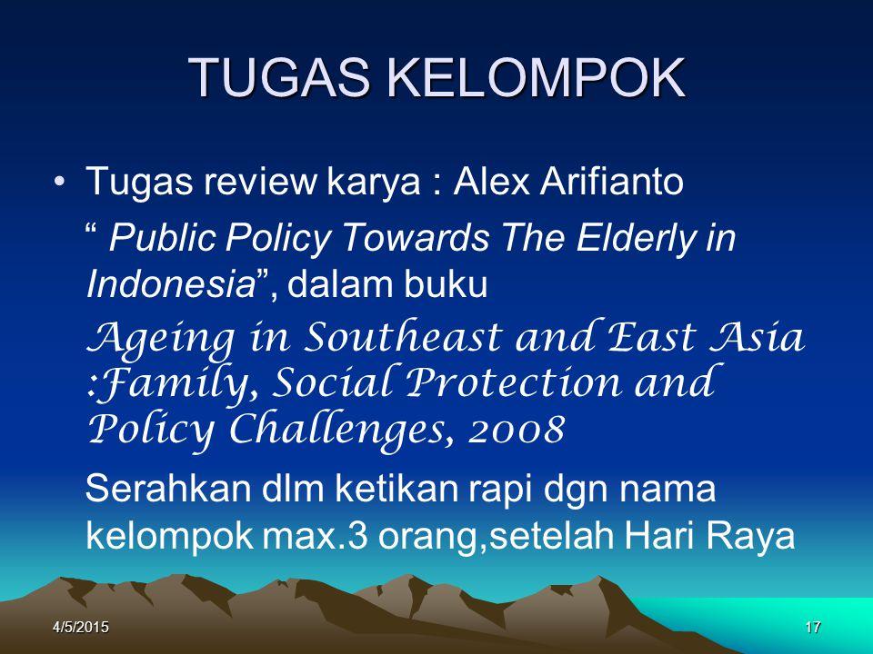 TUGAS KELOMPOK Tugas review karya : Alex Arifianto