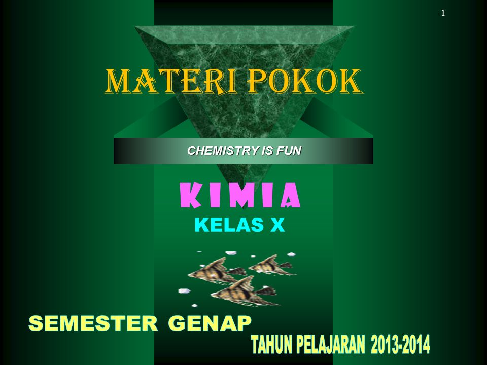 MATERI POKOK K I M I A KELAS X CHEMISTRY IS FUN SEMESTER GENAP