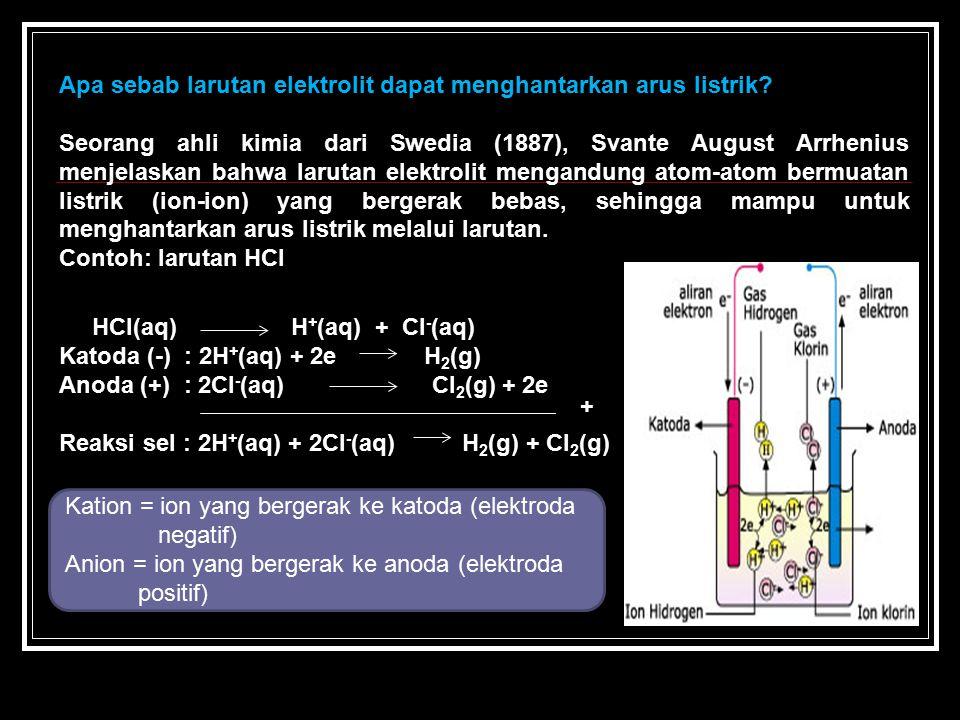 Apa sebab larutan elektrolit dapat menghantarkan arus listrik