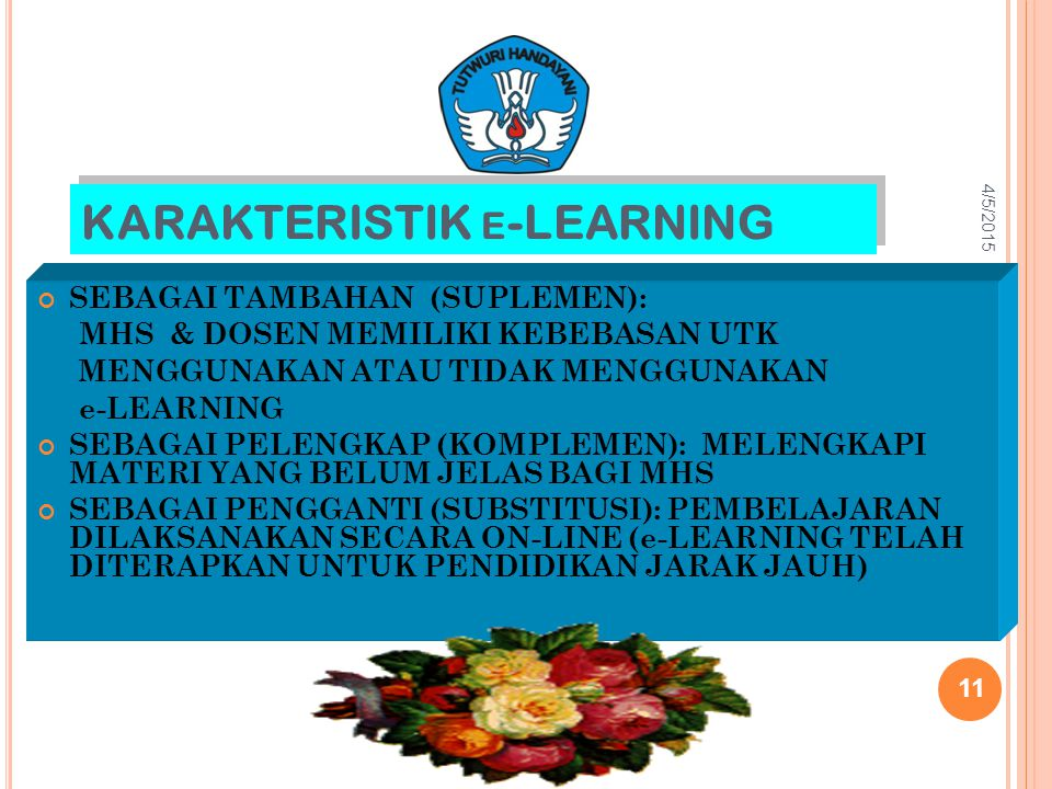 KARAKTERISTIK e-LEARNING