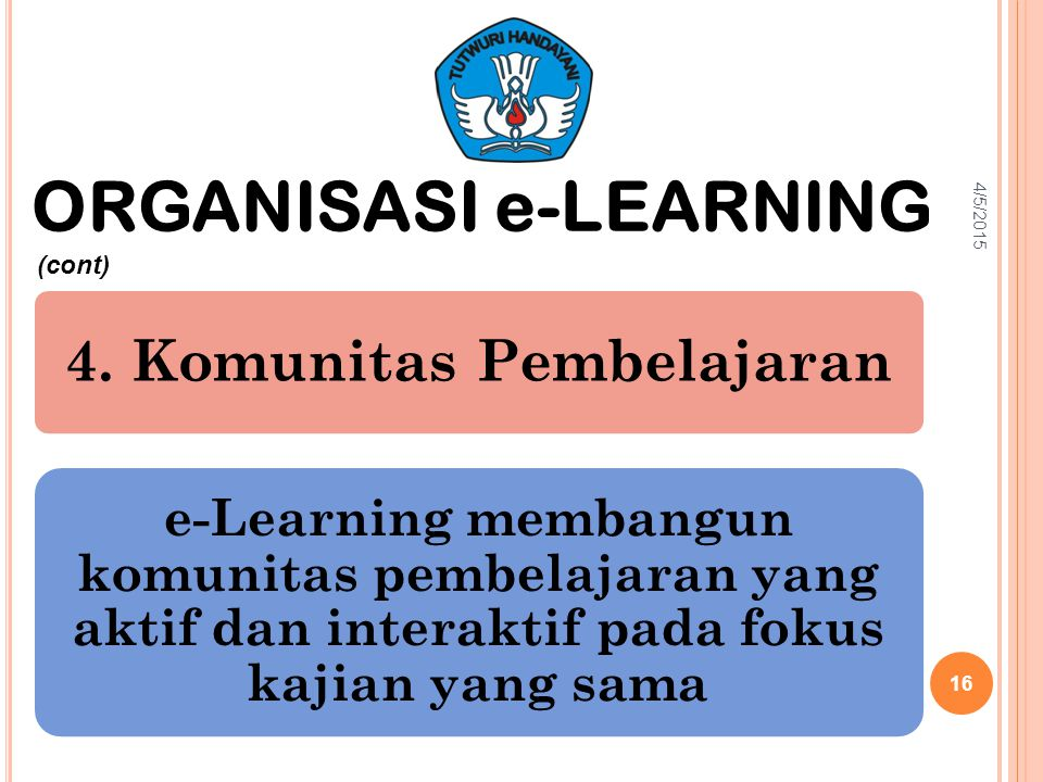 ORGANISASI e-LEARNING