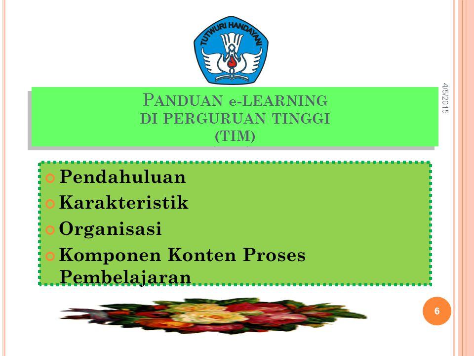 PANDUAN e-LEARNING DI PERGURUAN TINGGI (TIM)