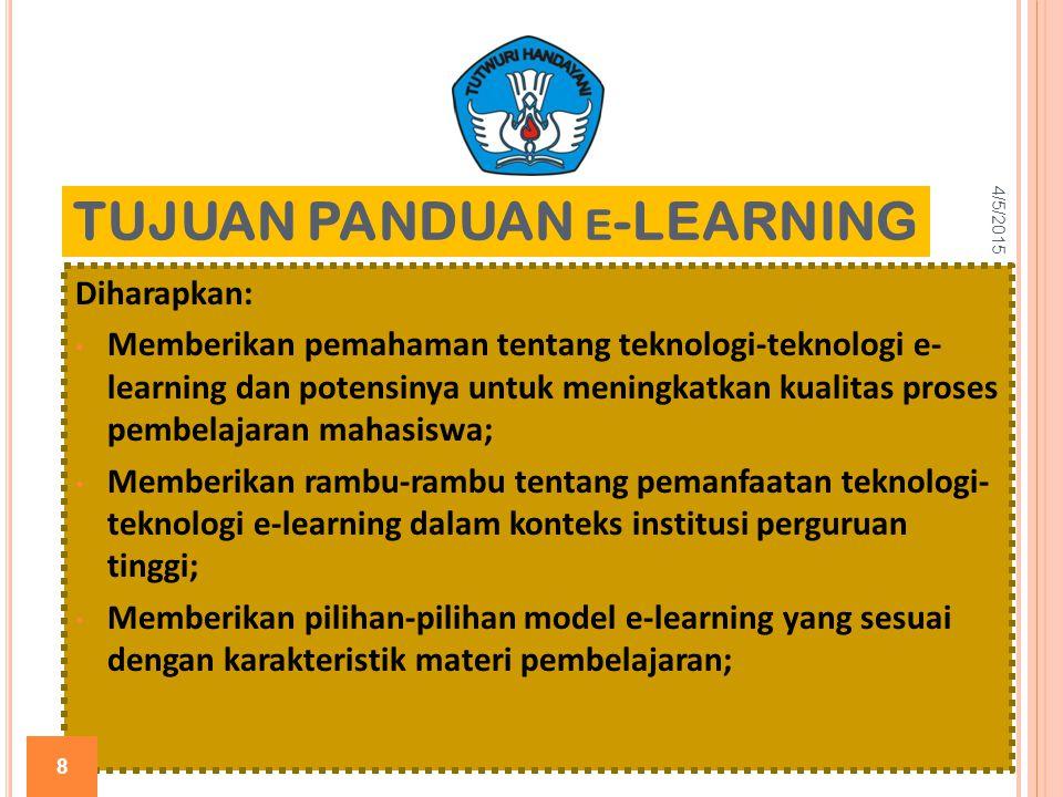 TUJUAN PANDUAN e-LEARNING