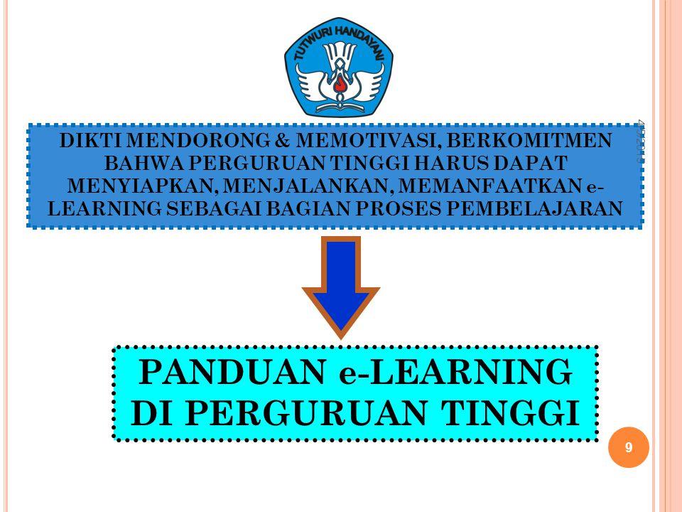 PANDUAN e-LEARNING DI PERGURUAN TINGGI