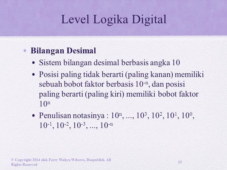 Level Logika Digital Bilangan Desimal