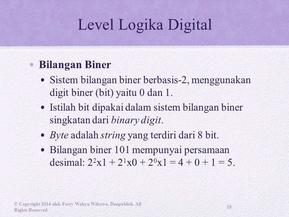 Level Logika Digital Bilangan Biner