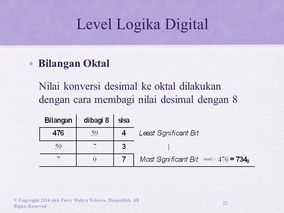 Level Logika Digital Bilangan Oktal
