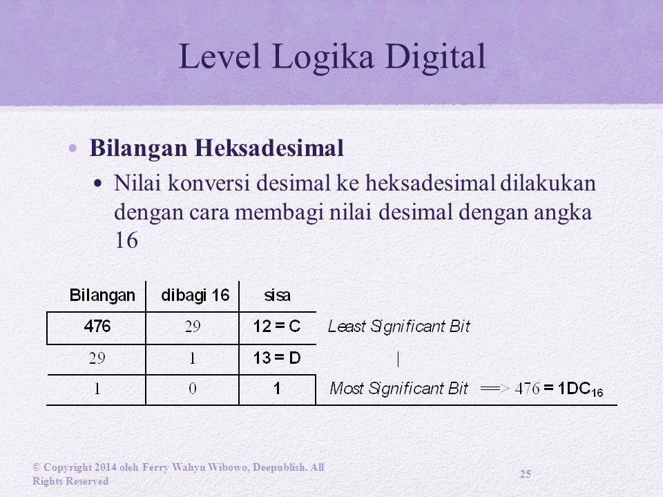 Level Logika Digital Bilangan Heksadesimal