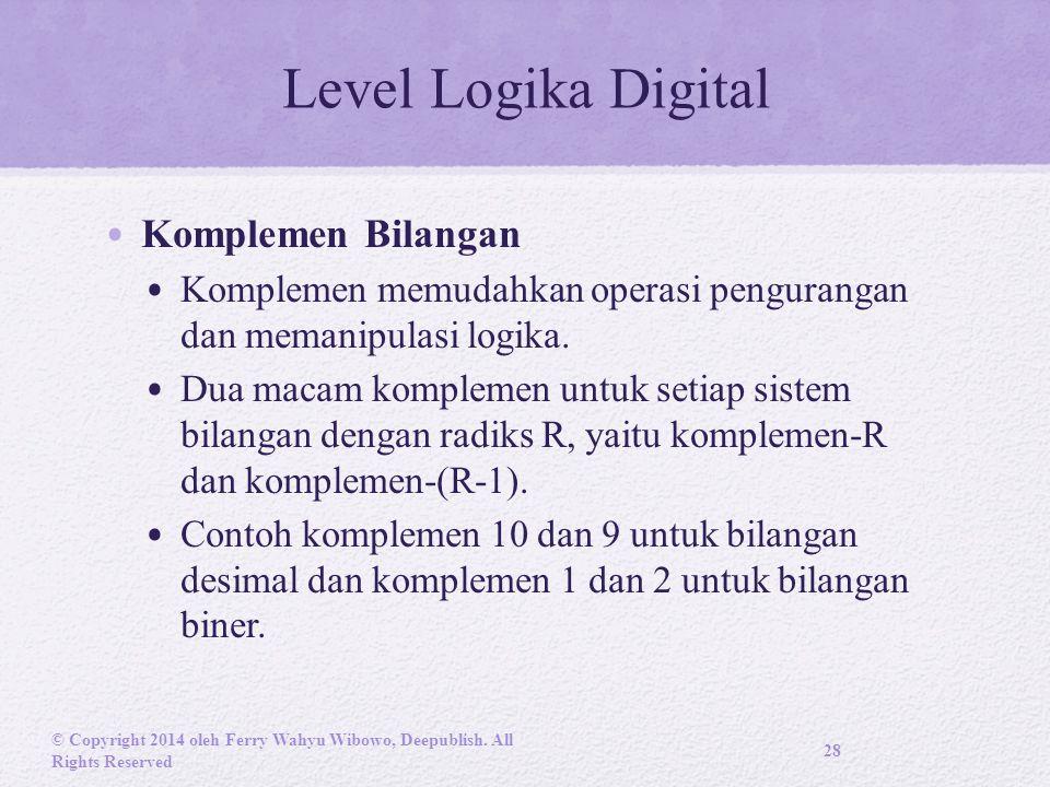 Level Logika Digital Komplemen Bilangan