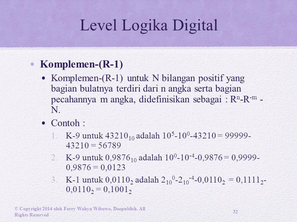 Level Logika Digital Komplemen-(R-1)