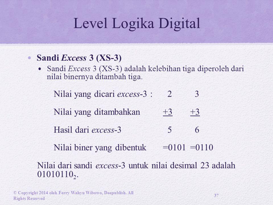 Level Logika Digital Sandi Excess 3 (XS-3)