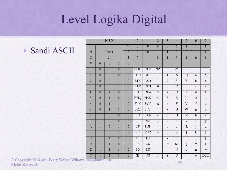 Level Logika Digital Sandi ASCII
