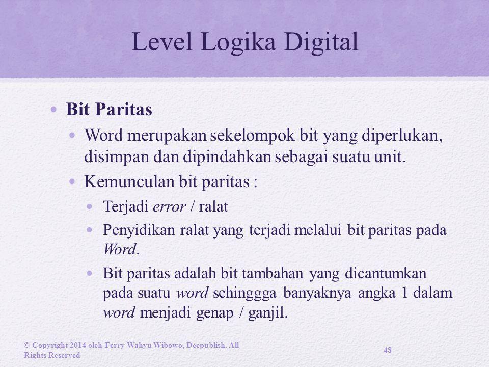 Level Logika Digital Bit Paritas