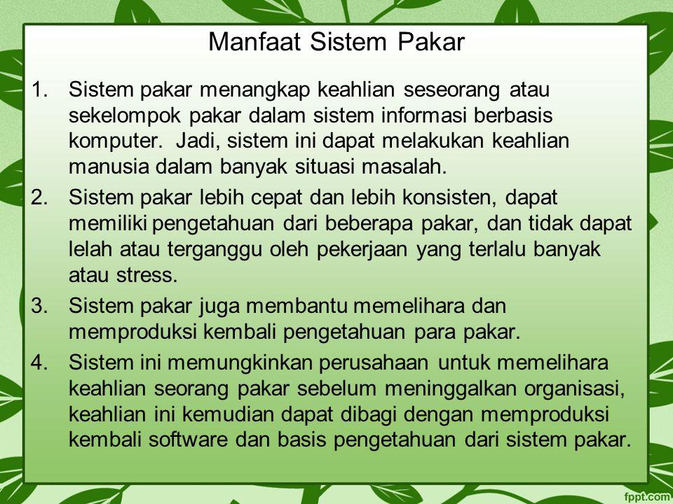 Manfaat Sistem Pakar
