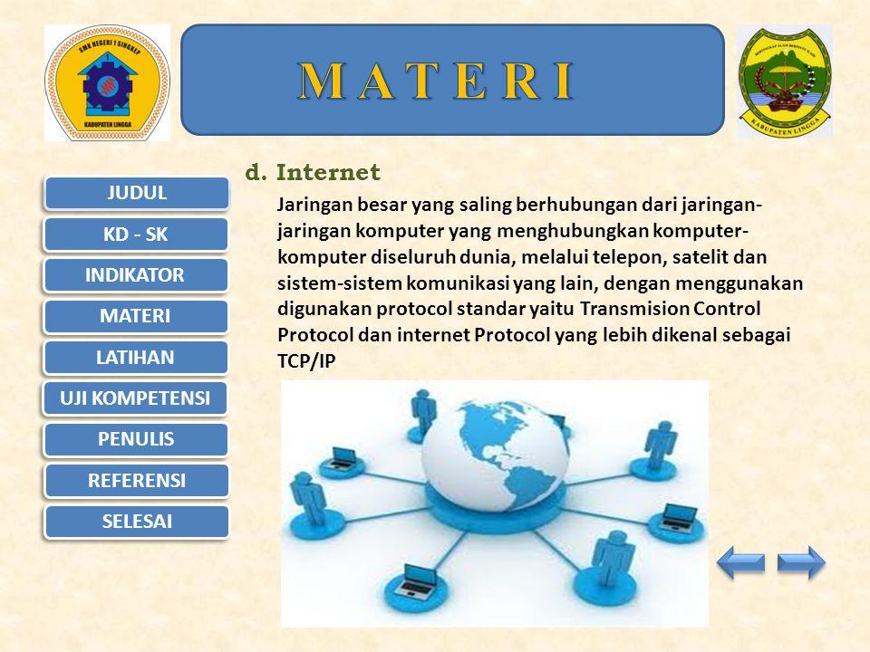 M A T E R I d. Internet.