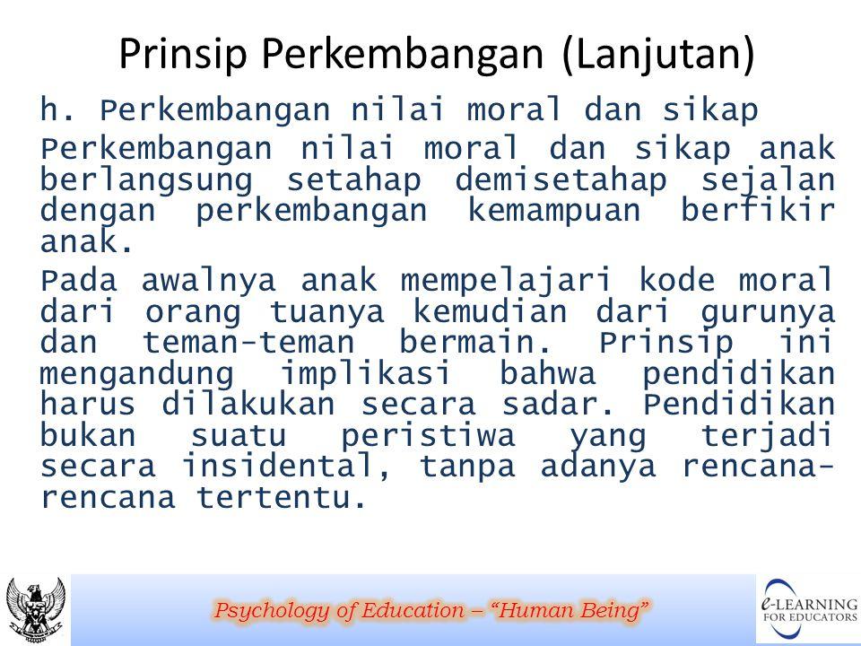 Prinsip Perkembangan (Lanjutan)