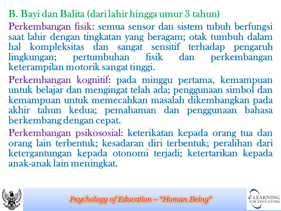 Psychology of Education – Human Being