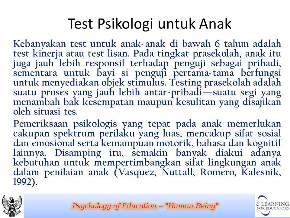 Test Psikologi untuk Anak