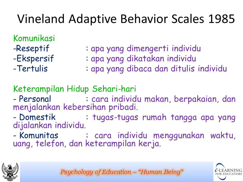 Vineland Adaptive Behavior Scales 1985