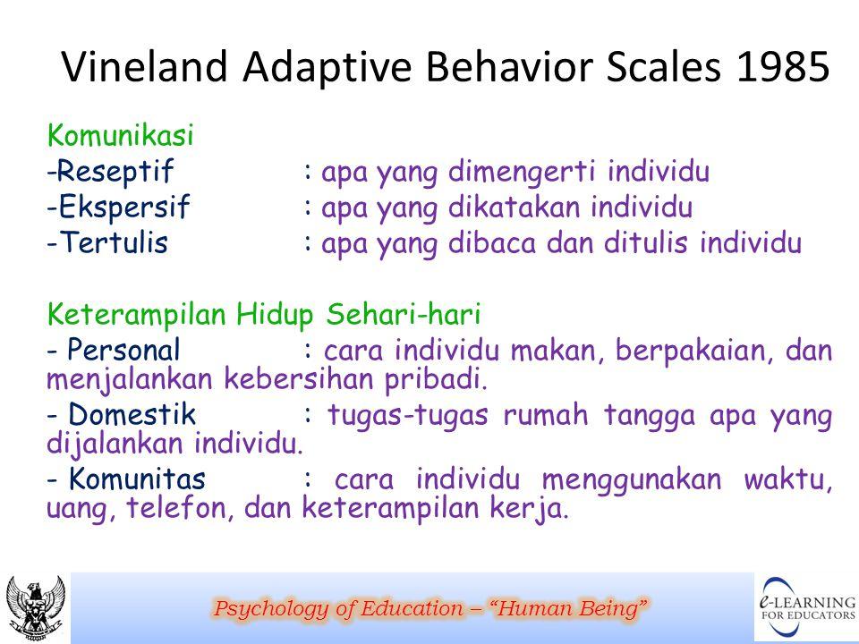 Vineland Adaptive Behavior Scales 1985
