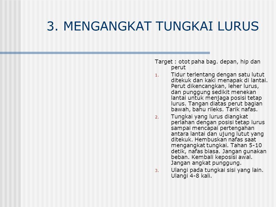 3. MENGANGKAT TUNGKAI LURUS