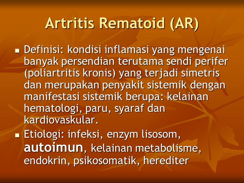 Artritis Rematoid (AR)