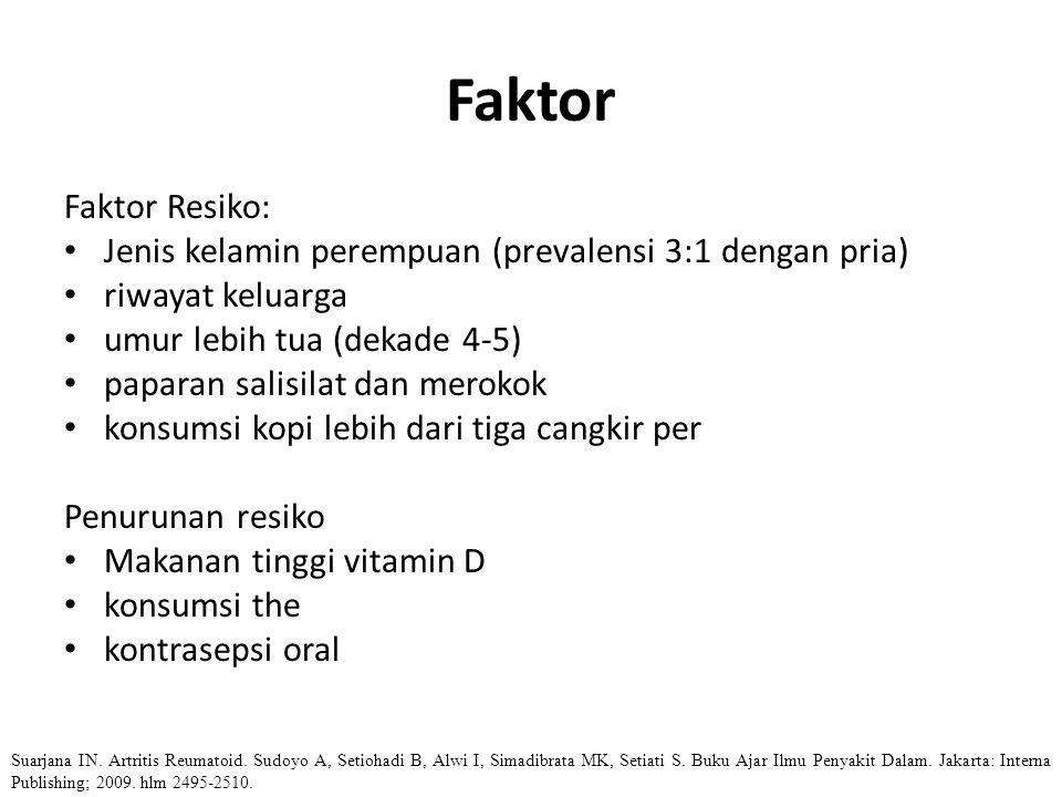 Faktor Faktor Resiko: Jenis kelamin perempuan (prevalensi 3:1 dengan pria) riwayat keluarga. umur lebih tua (dekade 4-5)