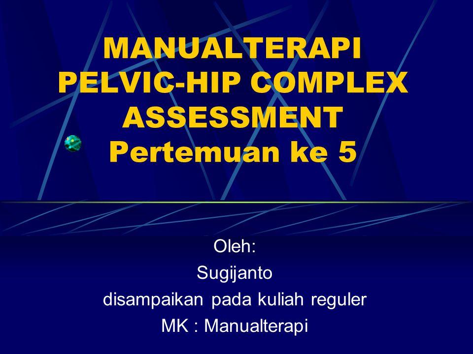 MANUALTERAPI PELVIC-HIP COMPLEX ASSESSMENT Pertemuan ke 5