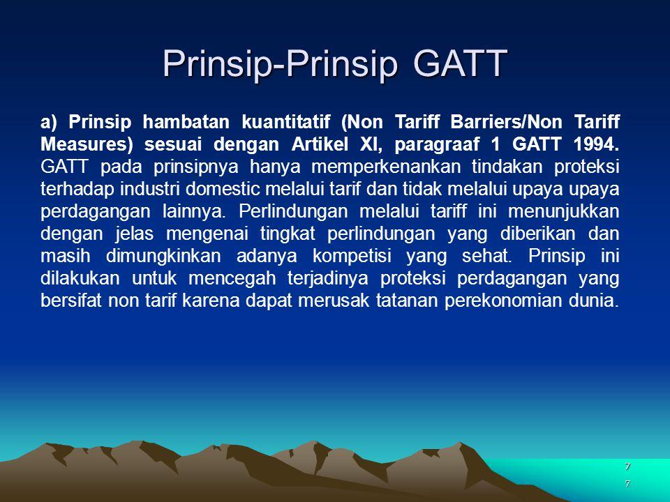 Prinsip-Prinsip GATT